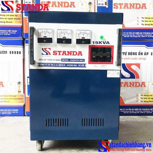 Biến áp tự ngẫu Standa 15KVA 3 pha tốt nhất siêu bền tiết kiệm điện