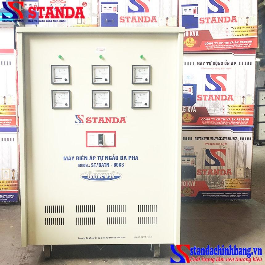 Biến áp tự ngẫu Standa 80KVA 3 pha