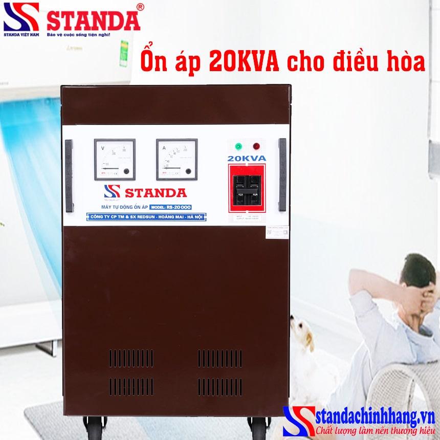 Ổn áp cho máy điều hòa 20kva Standa