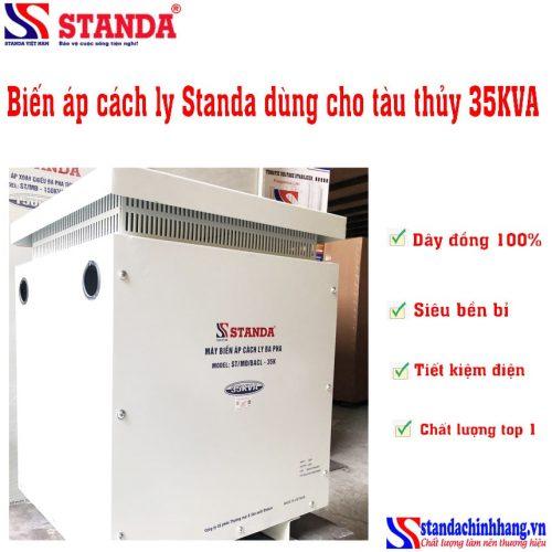 Biến áp cách ly Standa 35KVA dùng cho tàu thủy dây đồng 100%