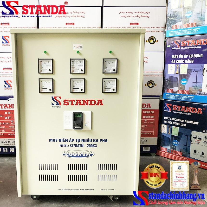 Biến áp tự ngẫu Standa 200KVA 3 pha thế hệ mới