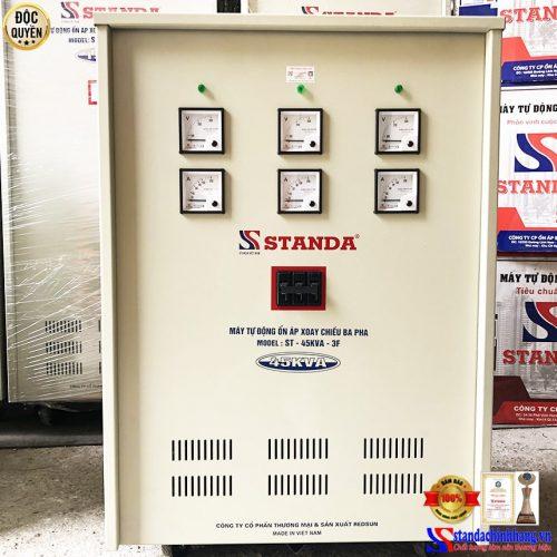 Ổn áp Standa 3 pha 45kva vào 260V ra 173V máy đặt