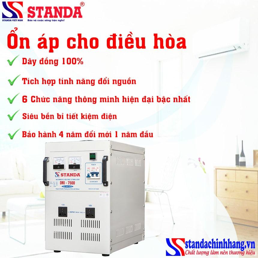 Ổn áp STANDA 1 pha 7.5kva tốt nhất sử dụng cho điều hòa