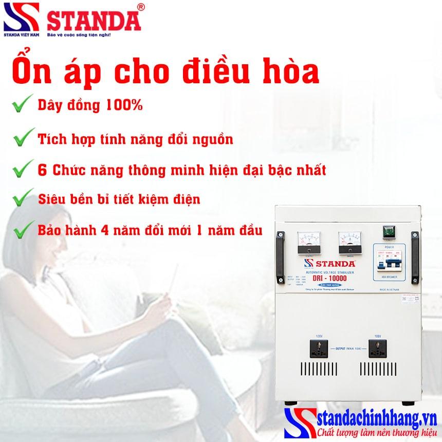 Ổn áp STANDA 1 pha 10kva sử dụng cho máy lạnh